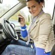 Stock Photo: Woman in the car
