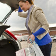 Stock Photo: Woman in the boot