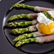 Asparagi with fried egg — Stock Photo #10851555