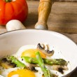 Asparagi with fried egg — Stock Photo #10860409