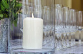 Wineglasses and candles — Stockfoto