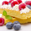 Waffle with fruit — Foto Stock