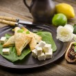 Stock Photo: Cakes with spinach and fetcheese