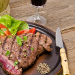 Grilled Steak. Barbecue — Stock Photo #11756920