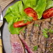 Grilled Steak. Barbecue — Stock Photo #12009419