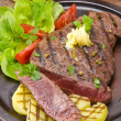 Grilled Steak. Barbecue — Stock Photo #12032127