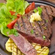Grilled Steak. Barbecue — Stock Photo
