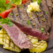 Grilled Steak. Barbecue — Stock Photo #12032129