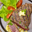 Grilled Steak. Barbecue — Stock Photo #12032244