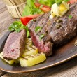 Grilled Steak. Barbecue — Stock Photo #12032266