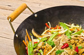 Wok frying pan — Stock Photo