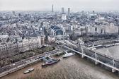 查看从伦敦眼千年码头 — 图库照片