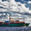 Ship with containers out into the open sea — Stock Photo #11951103