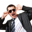 Young businessman with sunglasses — Stock Photo