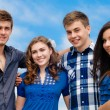 Happy teen friends smiling happilly — Stock Photo