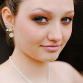 Retrato de dama joven hermosa — Foto de Stock