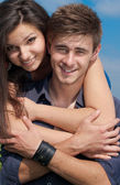 Happy teen couple — Stock Photo