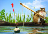 Angler concept — Stock Photo