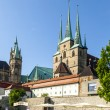 Dom hill of Erfurt Germany — Stock Photo