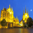 Erfurt Cathedral in the evening — Stock Photo