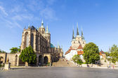 Dom hill of Erfurt Germany — Foto Stock