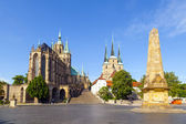 Dom collina di erfurt, germania — Foto Stock