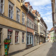 Stock Photo: Houses on famous Kraemerbruecke in Erfurt, Germany.