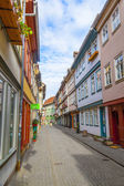 Houses on famous Kraemerbruecke in Erfurt, Germany. — Stock Photo