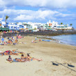 Enjoy the artificial beauitiful beach Playa Dorada - Stock Photo