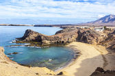 Playa de Papagayo beach on Lanzarote, Canary islands, — Stock Photo