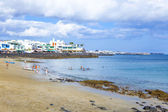 Enjoy the artificial beauitiful beach Playa Dorada — Stock Photo