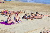 Enjoy the artificial beauitiful beach Playa Dorada — Stock Photo