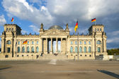 Famous Reichstag in Berlin, Germany — Stockfoto
