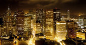 Aerial of San Francisco by night — Stockfoto
