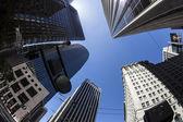 市中心的摩天大楼在下午晚些时候在旧金山 — 图库照片
