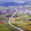 Aerial landscape view in rural Eiffel area in Germany — Stock Photo