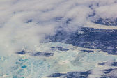 Sheet of ice floating on the arctic ocean — Stock Photo