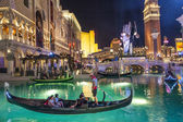 Gondolas at the Venetian Resort Hotel & Casino — Stockfoto