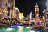 Gondolas at the Venetian Resort Hotel & Casino — Stock Photo