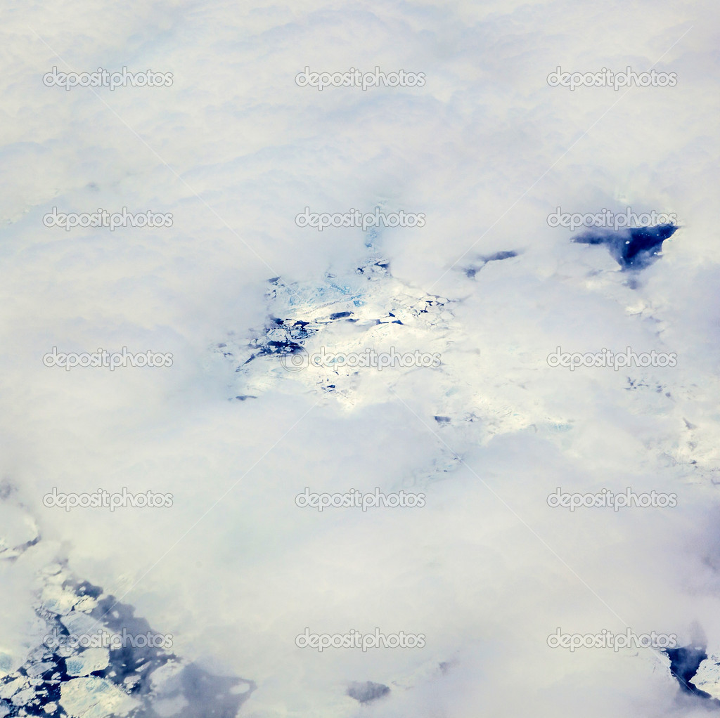 Sheet of ice floating on the arctic ocean  Stock Photo #11478385
