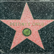 Destiny Child's star on Hollywood Walk of Fame — Stock Photo