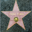 Tyrone Power's star on Hollywood Walk of Fame — Stock Photo #11522444