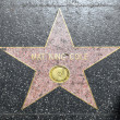 Nat King Cole's star on Hollywood Walk of Fame - Stock Photo
