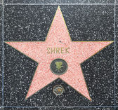 Shrek's star on Hollywood Walk of Fame — Stock Photo