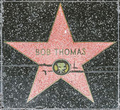 Bob Thomas star on Hollywood Walk of Fame — Stock Photo