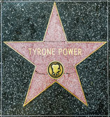 Tyrone Power's star on Hollywood Walk of Fame — Stock Photo