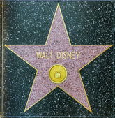 Walt Disney's star on Hollywood Walk of Fame — Stock Photo