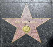 Nat King Cole's star on Hollywood Walk of Fame — Stock Photo
