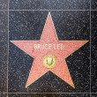 Bruce Lees star on Hollywood Walk of Fame - Foto de Stock