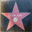 Royalty-Free Stock Photo: Elton Johns star on Hollywood Walk of Fame